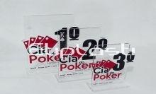 Troféu poker modelo cartas