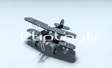 Avião de acrílico