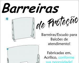 Barreias de Proteção para Balcões de Atendimento!