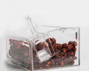 Expositores para doces e alimentos a granel