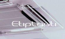 Defletor de acrílico ar condicionado cassete