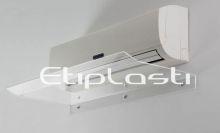 Defletor de acrílico para ar condicionado
