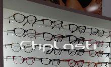 Painel expositor em acrílico para óculos