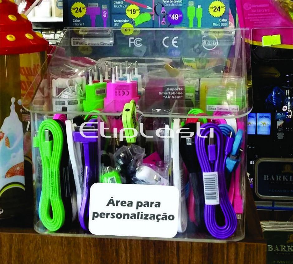 7c168c618d1 Expositor de acrílico para acessórios para celular. - Acrílicos ...