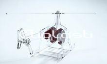Helicóptero de acrílico