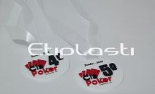 Medalha acrílico poker