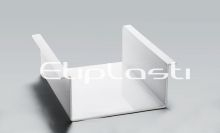 Proteção em policarbonato branco