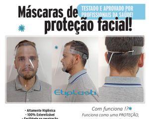 Máscara De Proteção Facial - 100% Esterilizável