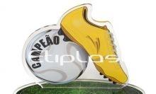 Troféu de acrílico futebol