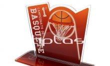 Troféu de acrílico basquete