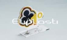 Troféu de acrílico para poker modelo naipes