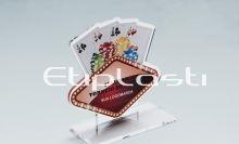 Troféu de acrílico para poker modelo vegas