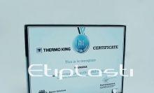 Placa tipo certificado em acrílico
